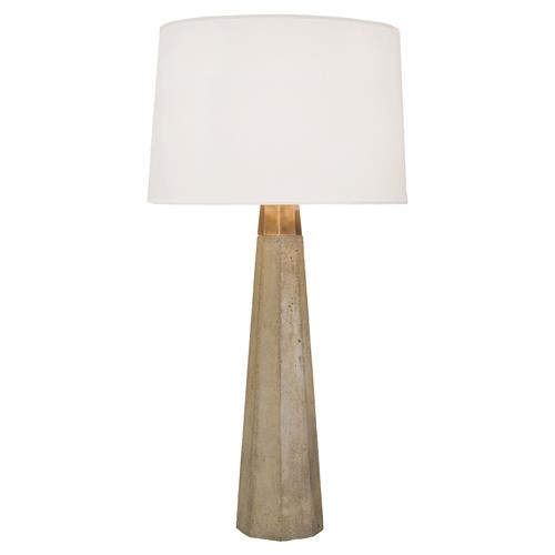 Regina Andrew Concrete Industrial Concrete Brass Wrench Table Lamp | Kathy Kuo Home