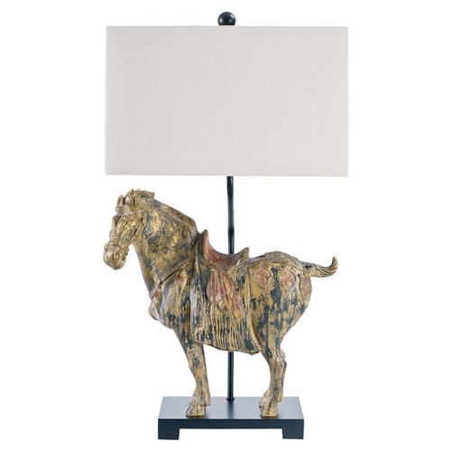 reign global rustic gilded horse lamps set of 2 kathy kuo home. Black Bedroom Furniture Sets. Home Design Ideas
