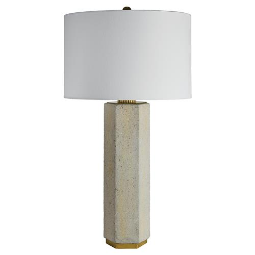 Regina Andrew Concrete Concrete Column Brass Wrench Table Lamp | Kathy Kuo Home