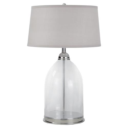 Jaqueline Modern Classic Silver Dome Table Lamp | Kathy Kuo Home