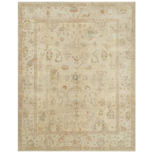 "Forrest French Antique Tan Stone Wool Rug - 8'6"" x 11'6"" 