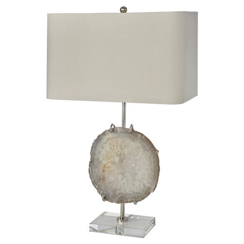 Regina Andrew Nickel Modern Classic Nickel Agate Table Lamp | Kathy Kuo Home