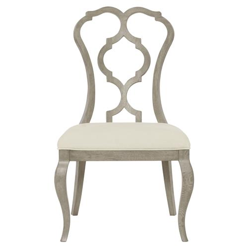Michaela French Country Wood Upholstered Dining Side Chair | Kathy Kuo Home
