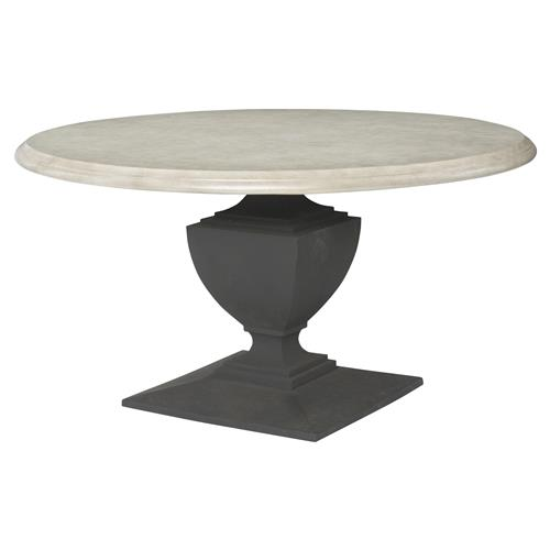 neil french concrete pedestal round top outdoor dining table. Black Bedroom Furniture Sets. Home Design Ideas