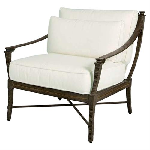 Jane Modern French Metal White Outdoor Lounge Chair