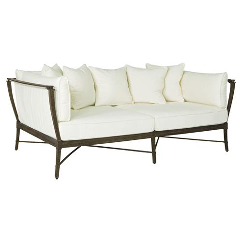 Jane Modern French Metal White Outdoor Daybed | Kathy Kuo Home