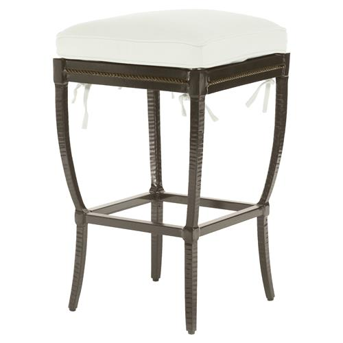 Jane Modern French Metal White Outdoor Counter Stool | Kathy Kuo Home