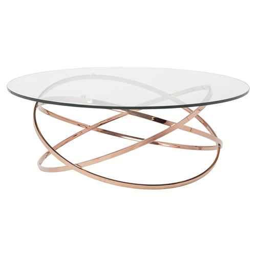 savannah modern classic rose gold glass coffee table kathy kuo home. Black Bedroom Furniture Sets. Home Design Ideas