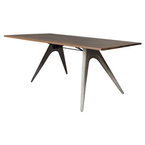 Christian Mid Century Concrete Wood Dining Table | Kathy Kuo Home