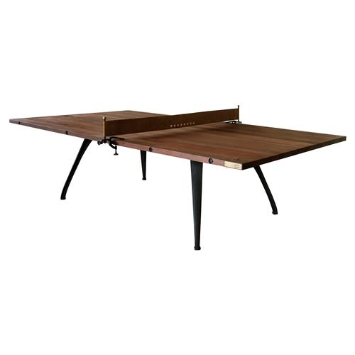 Palazzo Industrial Loft Wood Metal Ping Pong Table | Kathy Kuo Home
