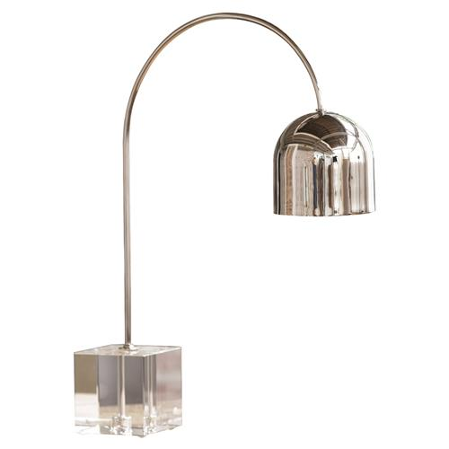 Regina Andrew Crystal Modern Acrylic Silver Dome Task Lamp | Kathy Kuo Home