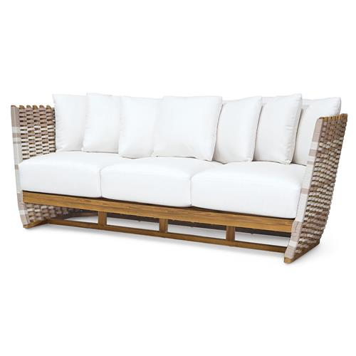Palecek San Martin Modern Classic Rope Wrapped Outdoor Sofa | Kathy Kuo Home
