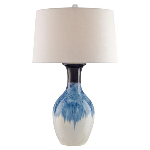 Haidee Modern Classic Watery Cobalt Table Lamp | Kathy Kuo Home