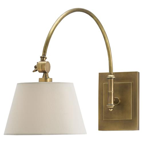 Lieber Modern Classic Brass Swing Arm Sconce | Kathy Kuo Home