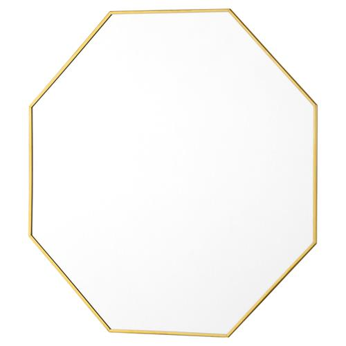 Bungalow 5 Eaves Modern Brass Octagon Wall Mirror - 19D | Kathy Kuo Home