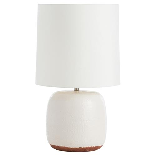 Paradox Coastal Beach Ivory Dipped Ceramic Table Lamp | Kathy Kuo Home