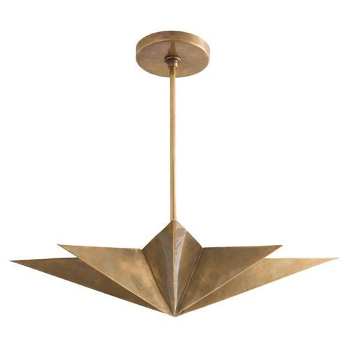 Arteriors Rex Regency Antique Brass Star Pendant | Kathy Kuo Home
