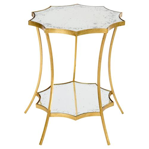 Estee Hollywood Regency Gold Leaf Solar Side Table | Kathy Kuo Home