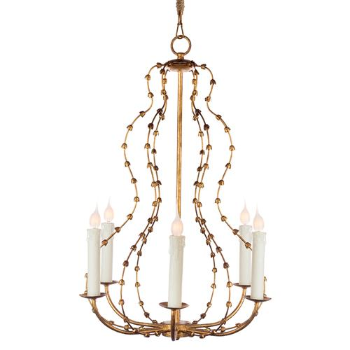 Jacinthe French Country Gold Bud Candle Chandelier | Kathy Kuo Home