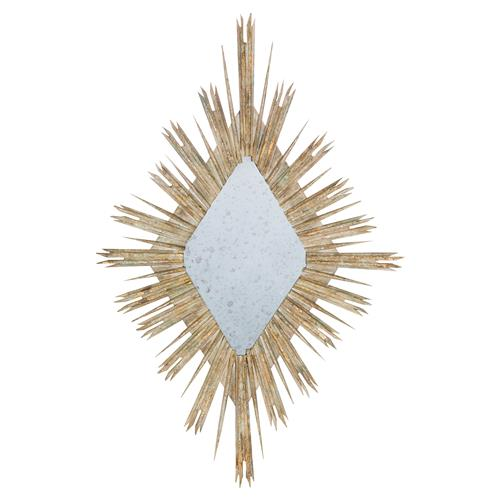 Sari Bazaar White Gold Diamond Burst Mirror | Kathy Kuo Home