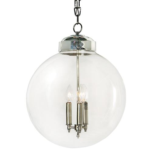 Regina Andrew Simple Silver Glass Globe Pendant | Kathy Kuo Home