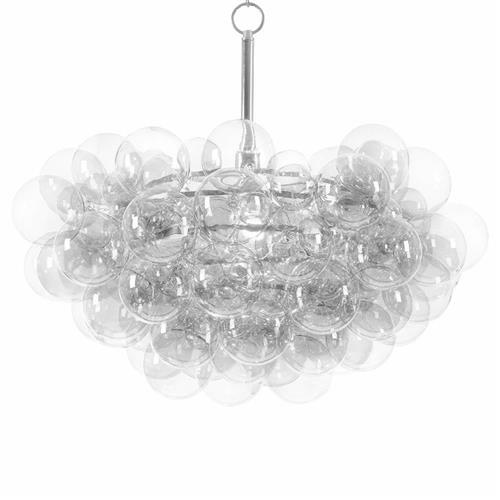 Regina Andrew Clear Modern Floating Glass Bubbles Clear Chandelier | Kathy Kuo Home
