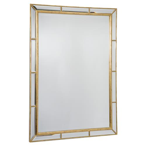 Regina Andrew Plaza Hollywood Antique Gold Beveled Rectangle Mirror | Kathy Kuo Home
