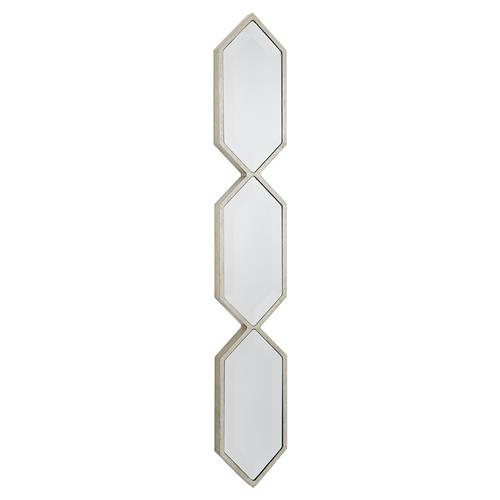 Regina Andrew Silver Modern Silver Diamond Panel Wall Mirror | Kathy Kuo Home