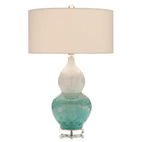 John-Richard Eil Malk Coastal Teal Ombre Crystal Table Lamp | Kathy Kuo Home