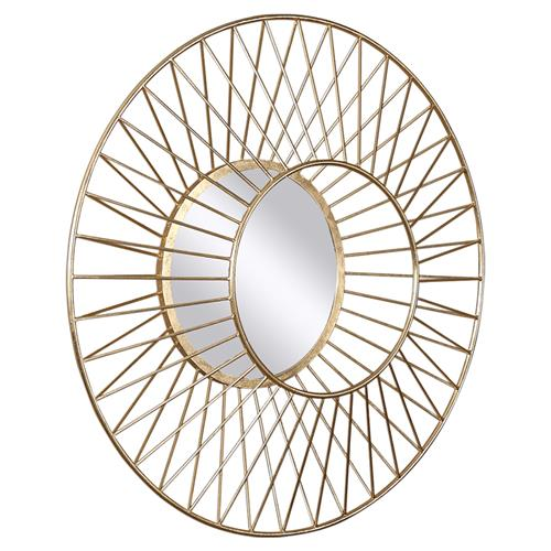 Spade classic dimensional gold sun round mirror kathy for Mirror spades