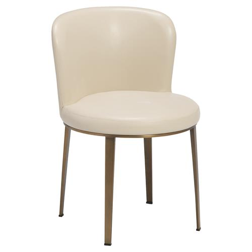 montclair modern classic simple bronze cream dining chairs On modern cream dining chairs