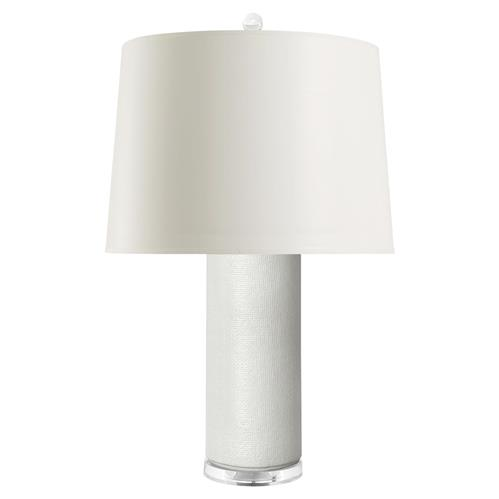 Jeffery Modern Textured White Glazed Ceramic Paper Table Lamp | Kathy Kuo Home