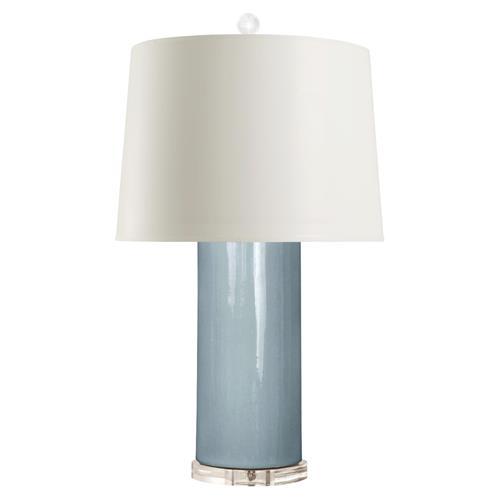 Rian modern classic blue glazed ceramic column paper table for Classic columns paper