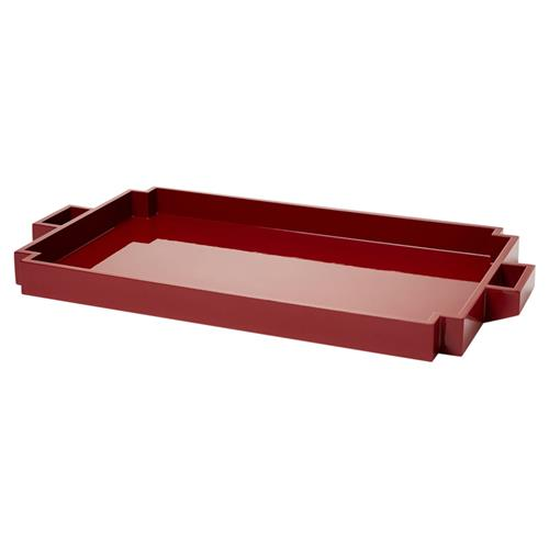 Major Modern Art Deco Red Berry Lacquer Tray | Kathy Kuo Home