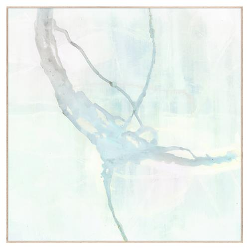 Modern Abstract Sea Foam Blue Sapphire Painting - Maple Frame | Kathy Kuo Home