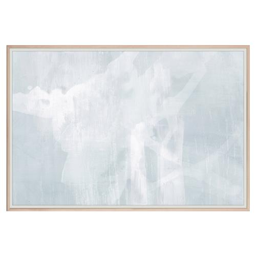 Catena Modern Abstract Blue Grey Painting - Maple Frame | Kathy Kuo Home