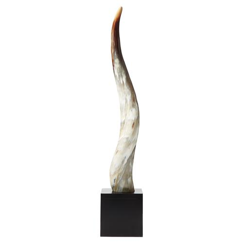 Global Bazaar Black Ivory Yak Horn Decorative Sculpture | Kathy Kuo Home