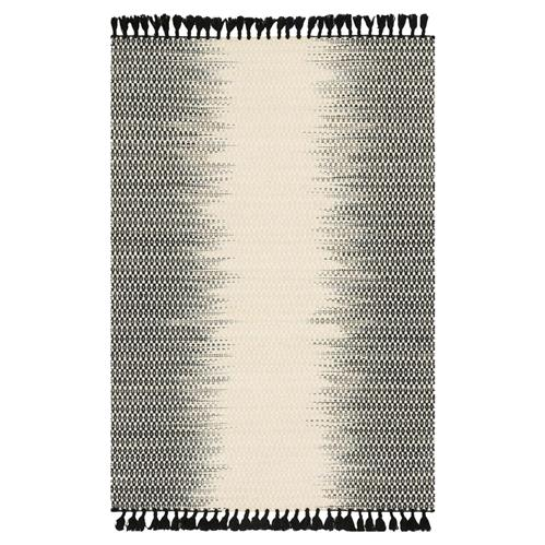 Tilly Global Black Ombre Woven Wool Rug - 3'6x5'6 | Kathy Kuo Home