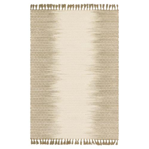 Tilly Global Olive Ombre Woven Wool Rug - 3'6x5'6 | Kathy Kuo Home