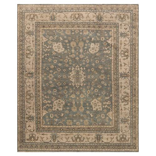 french bazaar vintage aqua wool rug