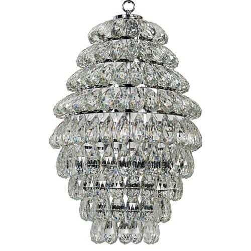 Annalina Regency Chrome 9-Tier Crystal Ball Chandelier | Kathy Kuo Home