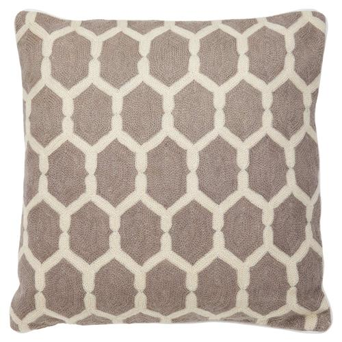 Eichholtz Essie Modern Classic Taupe Beige Tile Decorative Pillow - 20x20 | Kathy Kuo Home