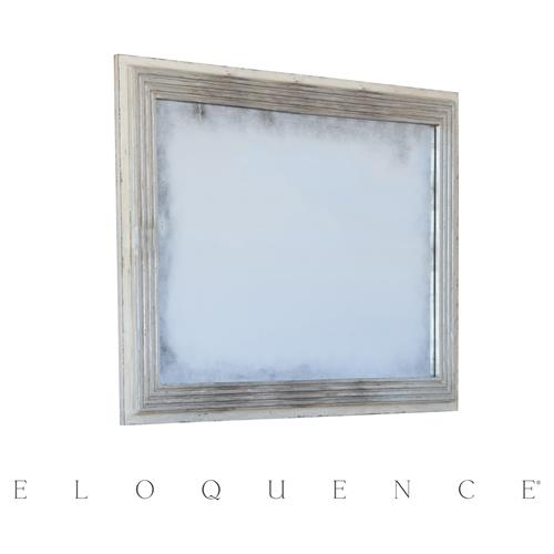 Eloquence Marcel Panel Mirror in Silver and Stone | Kathy Kuo Home
