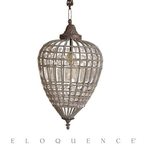 Eloquence Medium Teardrop Chandelier | Kathy Kuo Home