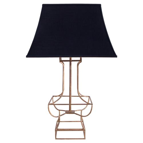 alexia modern classic black gold table lamp kathy kuo home. Black Bedroom Furniture Sets. Home Design Ideas