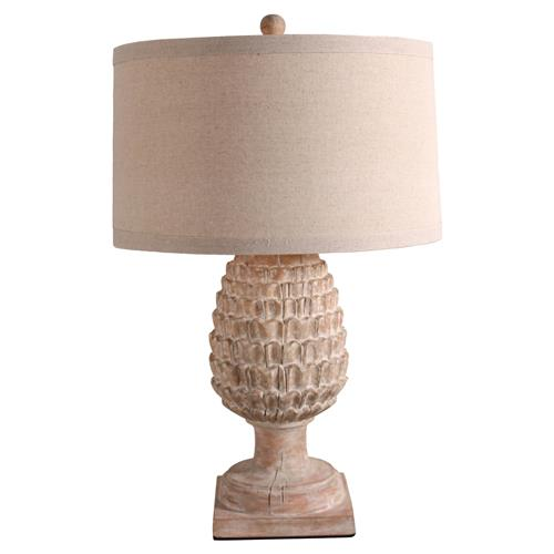 ariane french country whitewash beige pinecone table lamp kathy kuo. Black Bedroom Furniture Sets. Home Design Ideas