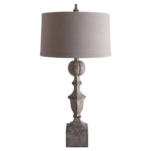 Ebba French Country Mink Brown Table Lamp | Kathy Kuo Home