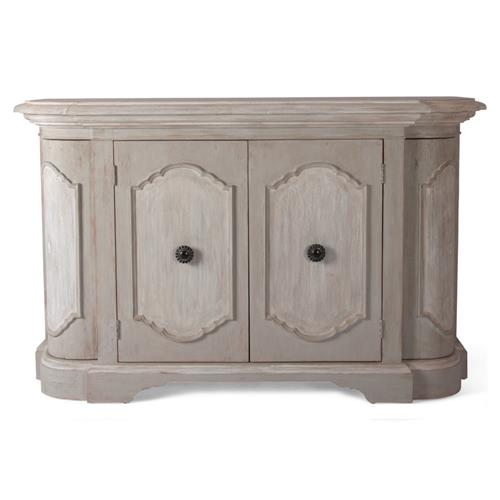 Duval French Country Rustic Oval Wood Sideboard | Kathy Kuo Home