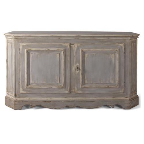 Cameron French Country Brown Etched Hardwood Sideboard | Kathy Kuo Home