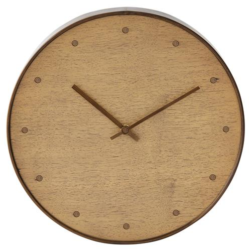 Clifton Modern Brown Walnut Wall Clock | Kathy Kuo Home